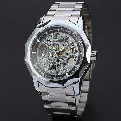 Luxusní mechanické hodinky - zlatá a stříbrná barva