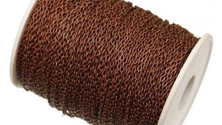 Kovový řetízek na DIY projekty 5 m - 4 barvy