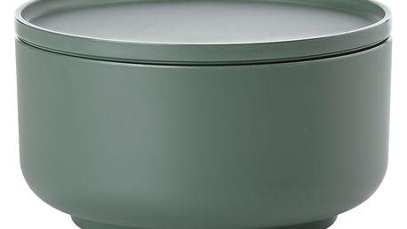 Zelená servírovací mísa s víkem ZONE Peili, 16 cm