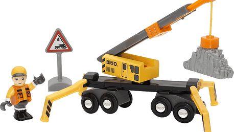 BRIO Stavební jeřáb + příslušenství