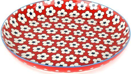 Talíř mělký Cotton Bud Maxwell & Williams 23 cm červený