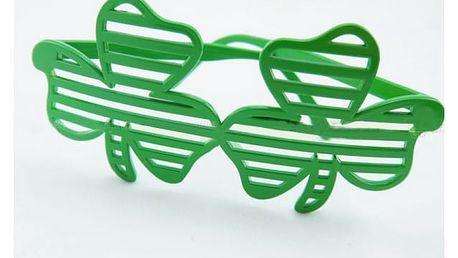 Mřížkované párty brýle ve tvaru čtyřlístků