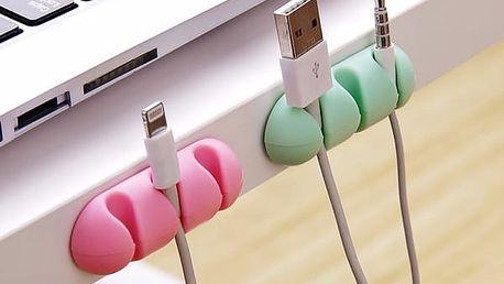 Plastový rozdělovač na kabely 2 kusy - 3 barvy