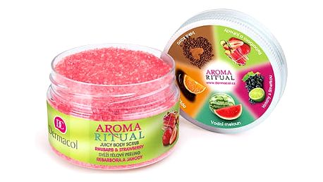Dermacol Aroma Ritual Rhubarb & Strawberry 200 g tělový peeling W