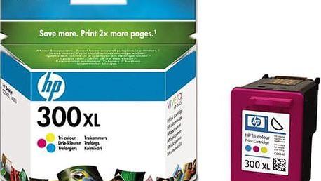 Inkoustová náplň HP No. 300XL, 11 ml, 440 stran - originální (CC644EE) červená/modrá/žlutá