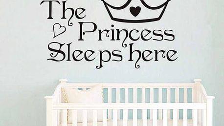 Samolepka na zeď do dětského pokoje - Princezna