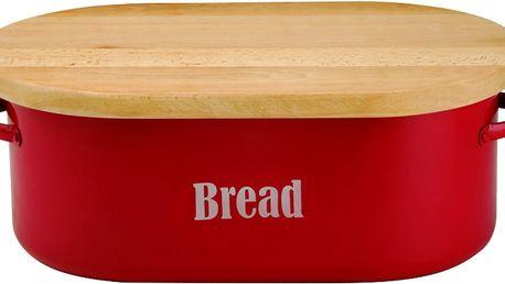 Červený chlebník Typhoon Vintage - doprava zdarma!