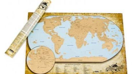 Stírací mapa světa - česká verze