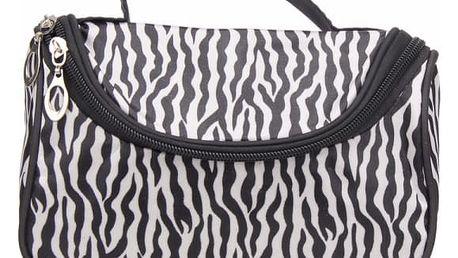 Kosmetická taška ve stylu zebry