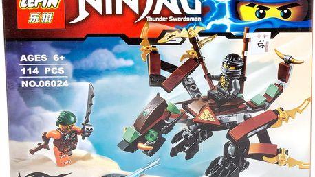 Stavebnice Ninja-Mistři Spinjitsu letadlo velká