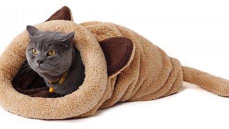 Plyšová schovávačka pro kočky - 4 barvy