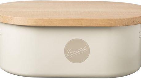 Bílý chlebník s dřevěným víkem Typhoon Vintage Americana - doprava zdarma!