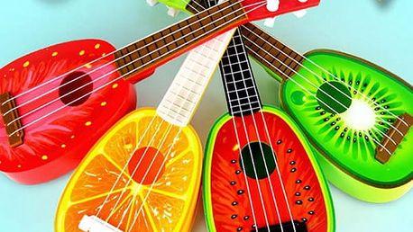 Dětské ukulele v podobě ovoce
