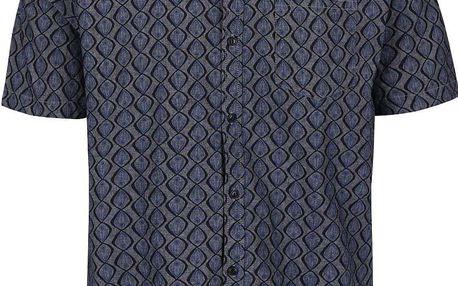 Modrá košile se vzorem Shine Original Gibson Out
