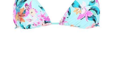 Tyrkysové dvoudílné plavky s barevnými květy Rip Curl Paradiso