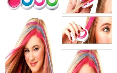 Křídy na obarvení vlasů - 4 ks - dodání do 2 dnů
