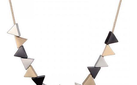 Náhrdelník s barevnými trojúhelníky