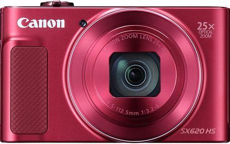 Canon PowerShot SX620 HS, červená - 1073C002 + Pouzdro Canon DCC-1500 v ceně 499 Kč