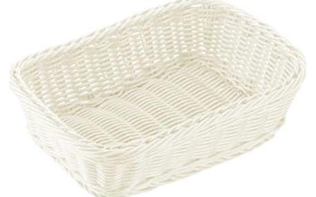 Košík obdélníkový FLAIR 29x21 cm, bílá