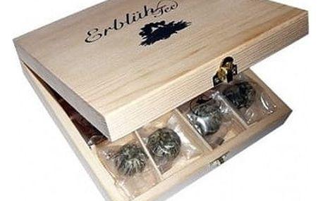 Exklusivní dřevěná skříňka - 12ks bílý čaj