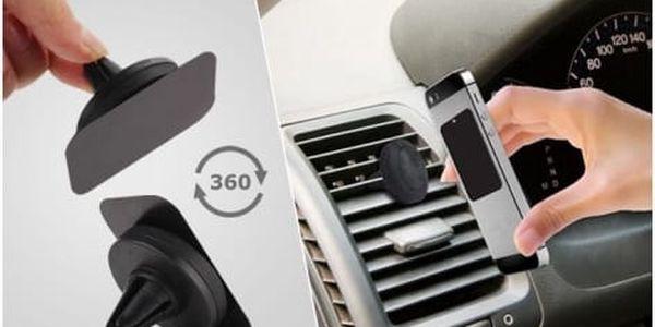 Univerzální magnetický držák na mobil do mřížky ventilátoru