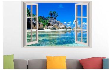 Samolepka na zeď - Výhled do tropického ráje