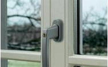 Okenní klika uzamykatelná, Abus ABFS59486, stříbrná