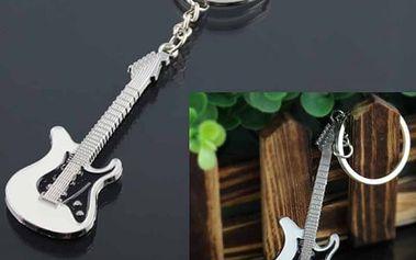 Klíčenka v podobě elektrické kytary