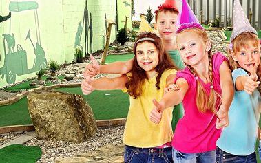 Narozky na minigolfu: Party pro 10 dětí + pizzy