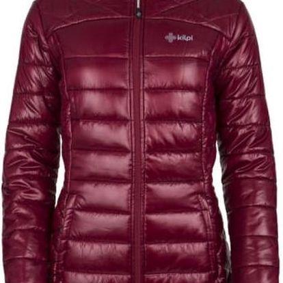 Dámský zimní prošívaný kabát KILPI SYDNEY-W Tmavě červená 44
