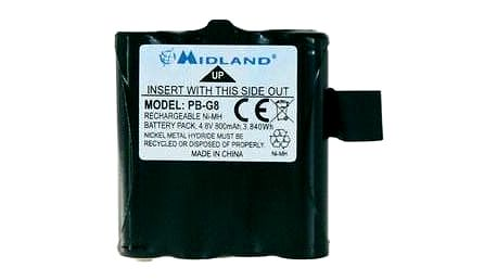 Akumulátor pro radiostanice Midland PB G6/G8, 4,8 V, 800 mAh, C881