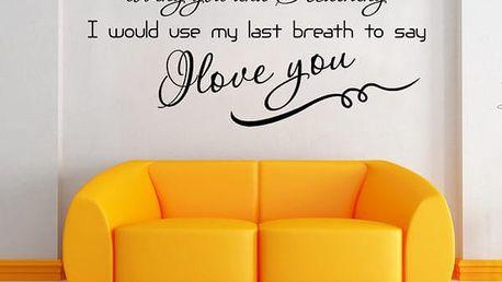 Samolepka na zeď se zamilovaným nápisem - dodání do 2 dnů