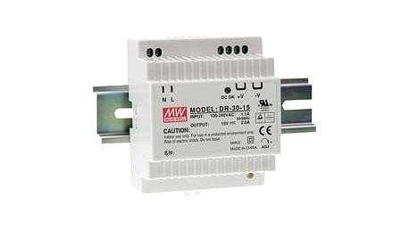 Síťový zdroj na DIN lištu Mean Well DR-30-15, 1 x 15 V/DC, 2 A, 30 W