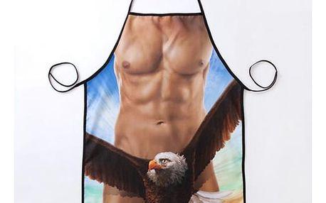 Vtipná originální zástěra s vypracovaným tělem - dodání do 2 dnů