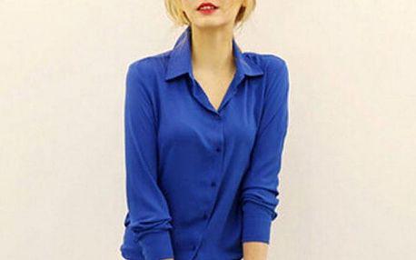 Dámská šifónová košile v pěti barvách