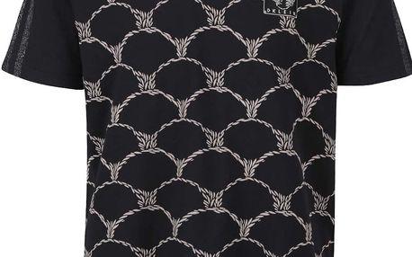 Černé pánské vzorované triko adidas Originals