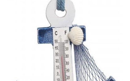 Domácí teploměr s háčkem v námořnickém stylu