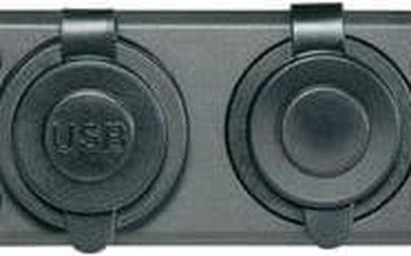 Palubní zásuvka s USB, A13-194 144DPD, 12/24 V, 20 A