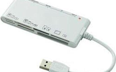Externí čtečka paměťových karet Renkforce CR23e, USB 3.0, bílá