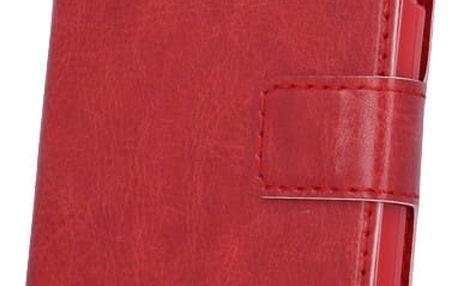 myPhone pouzdro s flipem pro PRIME PLUS, červená - LCSMYAPRIMEPFLRE