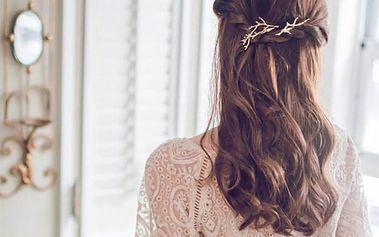 Spona do vlasů ve tvaru větve - 2 barvy