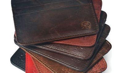 Peněženka na platební karty z umělé kůže - různé barvy
