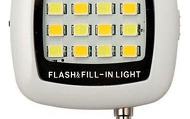 Externí blesk k mobilnímu telefonu s 16 LED diodami