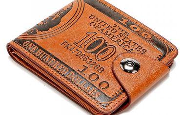 Pánská peněženka v provedení stodolarové bankovky