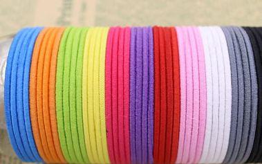 20 gumiček do vlasů - různé barvy