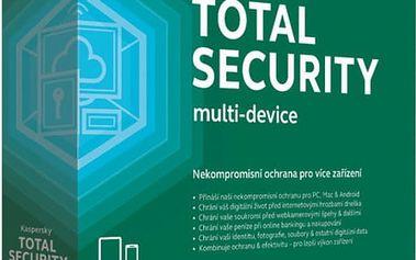 Kaspersky Total Security multi-device CZ pro 1 zařízení na 12 měsíců, nová licence - KL1919XCAFS