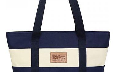 Ležérní plátěná kabelka s praktickou kapsičkou - různé barvy