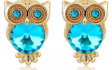 Elegantní dámské náušnice se sovou - různé barvy