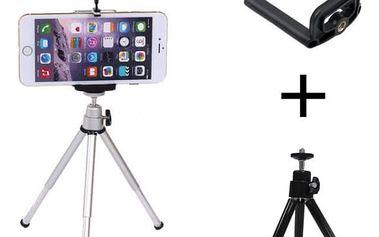 Stativ (tripod) s držákem pro smartphony a fotoaparáty