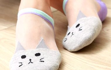 5 párů ponožek s kočičkami
